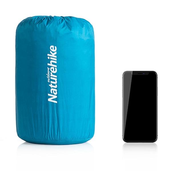 Självuppblåsande Campingmadrass Luftmatta Fukttät pad Blå kuvert Standard