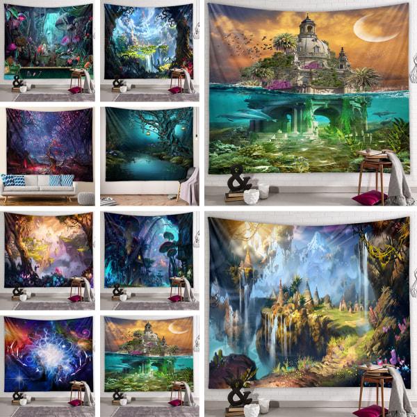 Skog Bohemiska Hängande filtar Affischmatta hem konst dekor Händer 100x150cm