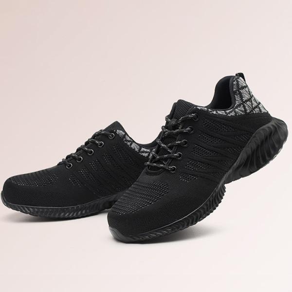 Ståltåade herrskor för män anti-smash halkfria sneakers Grå 39