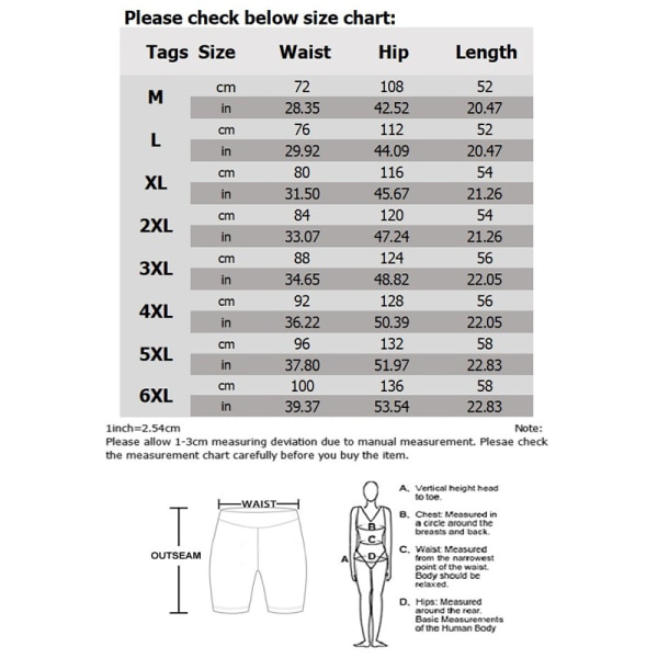 Strandshorts för män, elastisk rand, tryckt bekväm löst Blue 2XL