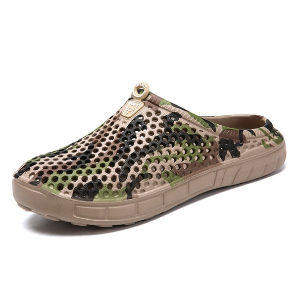 Tofflor för män utomhus badskor bekväma sandaler Brun 43