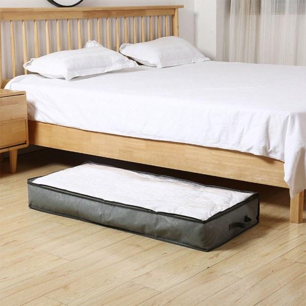 Under säng förvaringsväska klädask Arrangör fiberduk grå 103x45x15cm