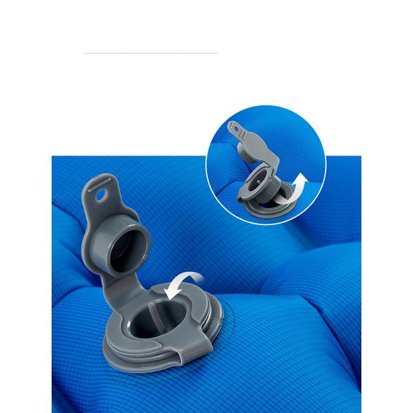 Uppblåsbar kudde Campingmatta Luftmadrass Fuktsäker Blå + kudde 2 personer