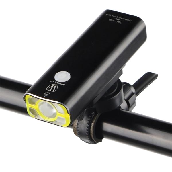 USB-uppladdningsbar LED-cykel Framstrålkastare Cykling 5-läge Svart