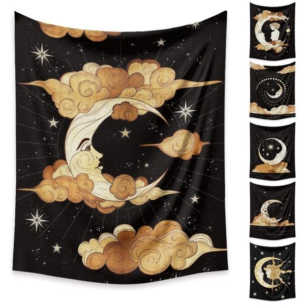 Vägg Gobeläng Bohemiska Kasta hängande filtar hem konst dekor Måne 73x95cm