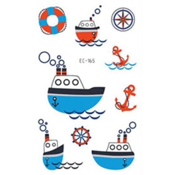 Veneet 36 kpl lastentatuointi tatuointi laiva alus