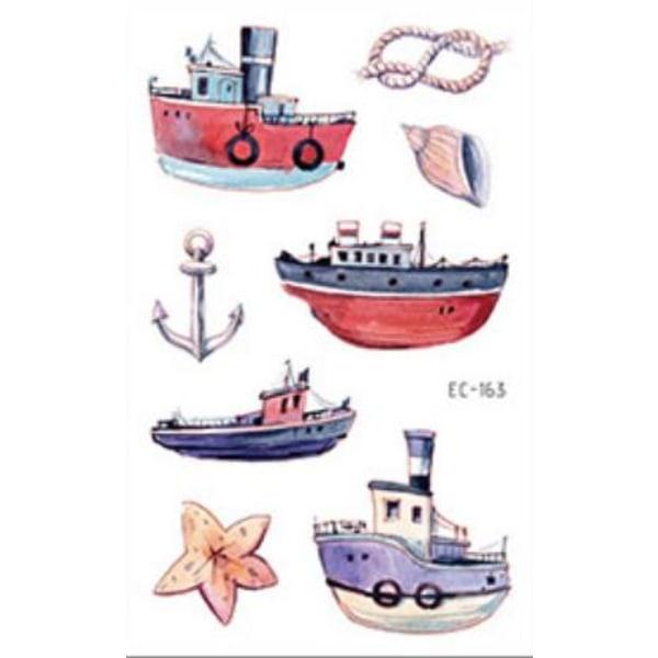 Både 36 stk børntatoveringer tatovering skib børn