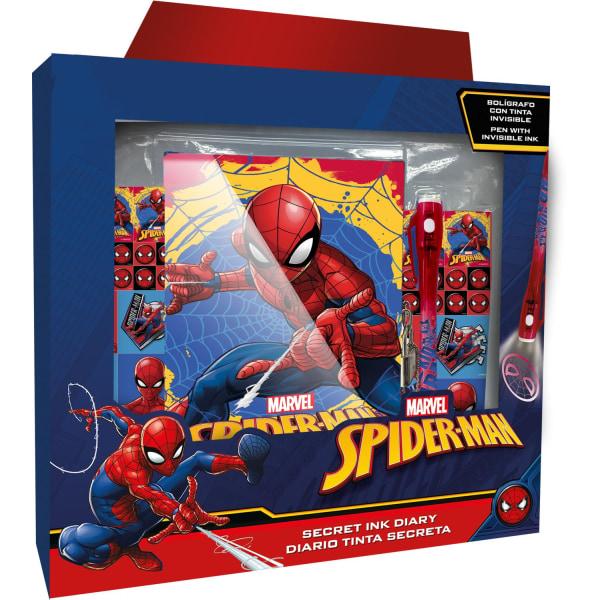 Spiderman dagbok med osynligt bläck och klistermärken