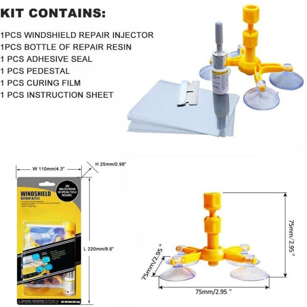 Lagnings-kit för bilfönsterrutor - Gul
