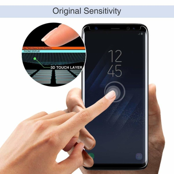 Skärmskydd Samsung Galaxy S8 Härdat glas Svart