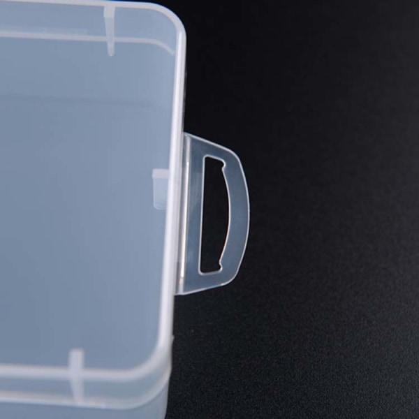 Plastask med lock Transparent 14.5x9x4cm