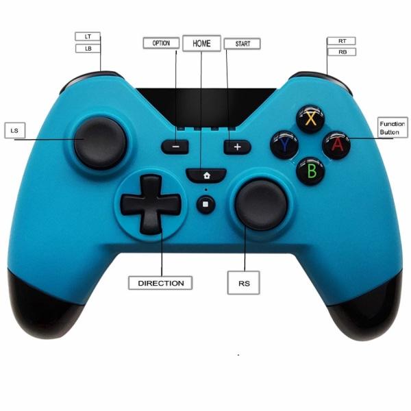 Handkontroll till Nintendo Switch - trådlös - blå
