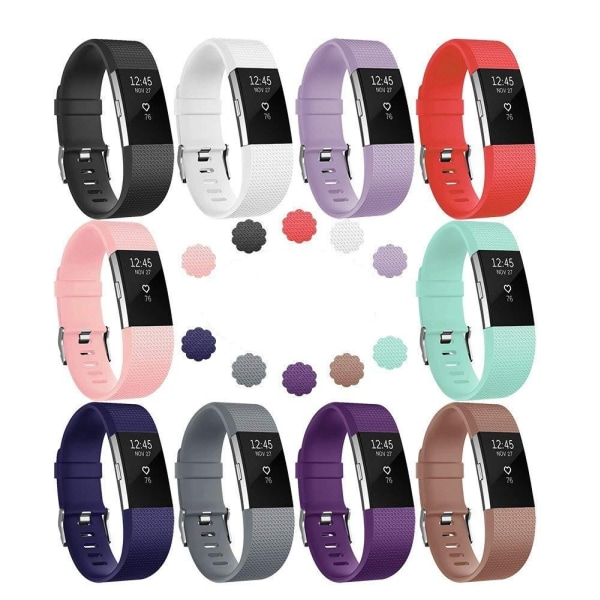 Fitbit Charge 2 armband 10-pack Flera färger (S)