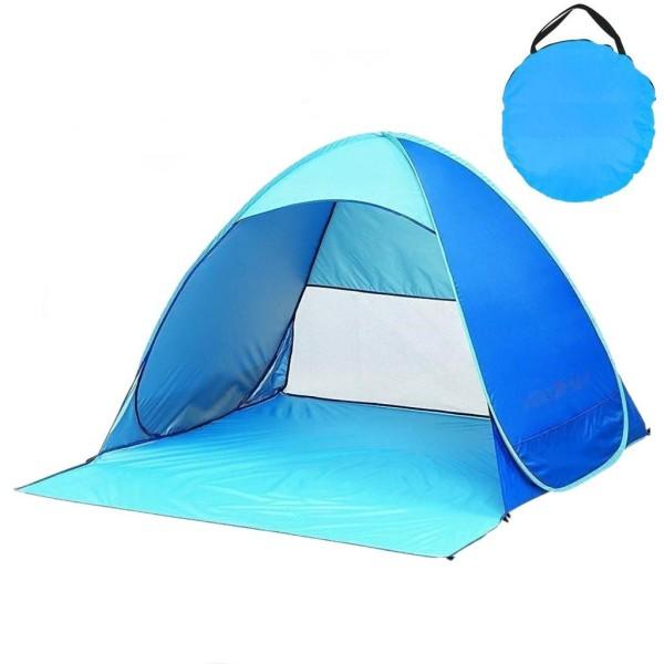 Strandtält pop-up UV 40+ Blå