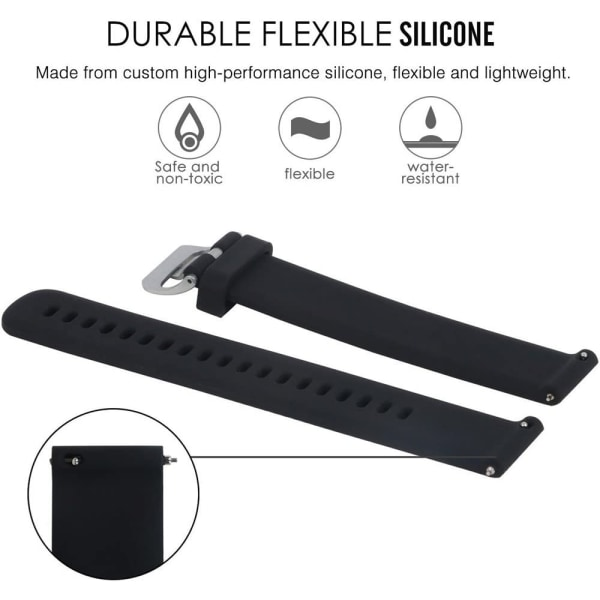 Armband Garmin VivoActive 3 / Move / Forerunner (20 mm) TPU Svar