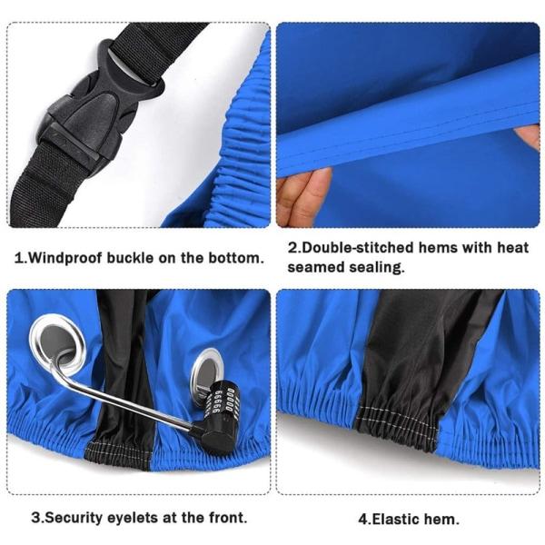 Cykelöverdrag, regnskydd och UV-skydd - Blå