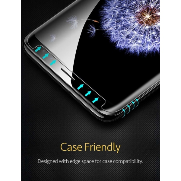 Skärmskydd Samsung Galaxy S9 Plus Härdat glas Svart