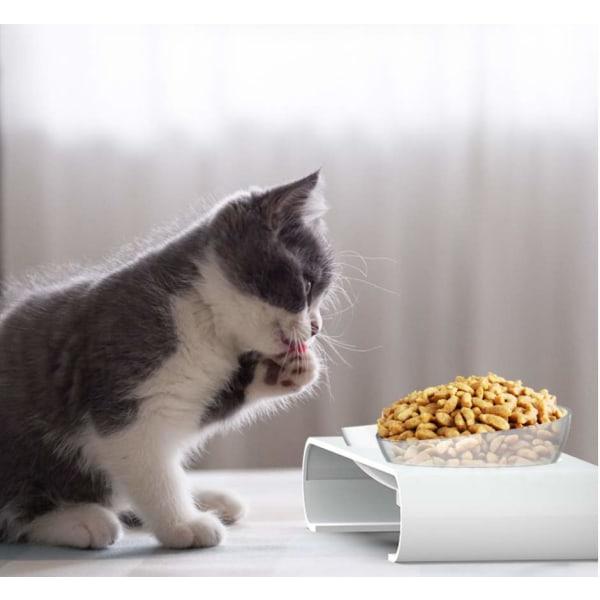 Lutande katt-matskålar som skyddar halskotorna