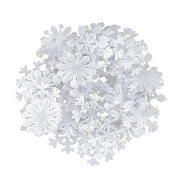 Självlysande snöflingor 50 klistermärken Vit
