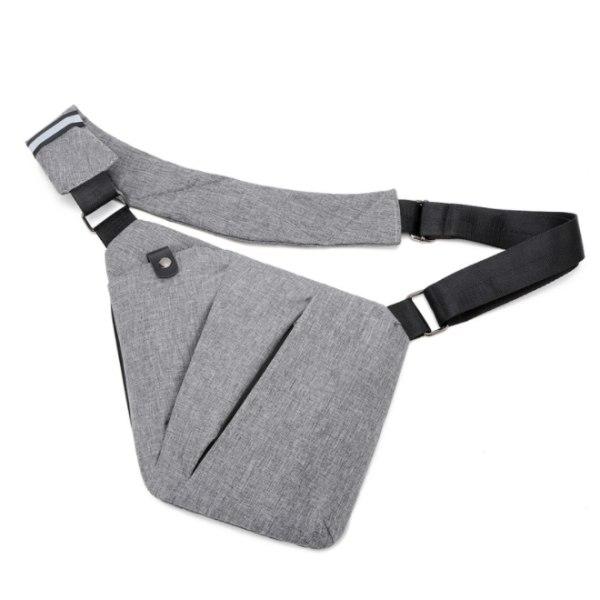 Axelremsväska herr polyester grå
