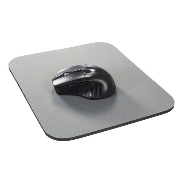 DELTACO musmatta, tygbeklädd gummi, 6mm grå
