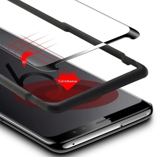 Skärmskydd Samsung Galaxy S9 Härdat glas Svart