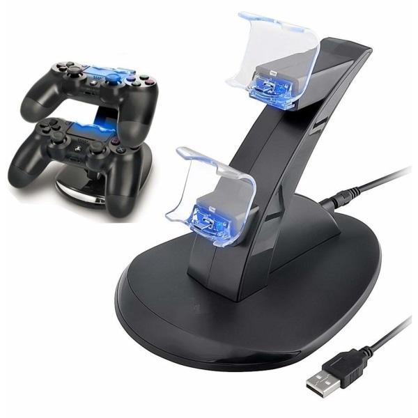 Laddningsstation för två PS4 kontroller