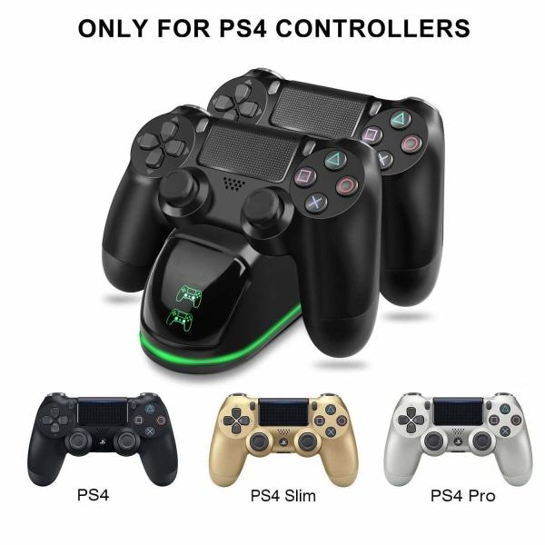 Dubbel laddstation för två kontroller - PS4/PS4 Slim/PS4 Pro