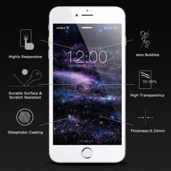Skärmskydd iPhone 8 Plus Härdat glas Vit