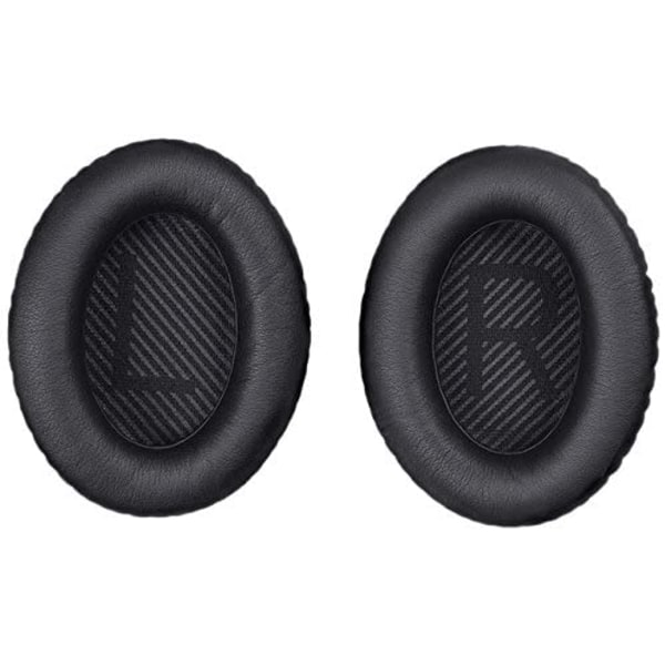 2-pack öronkuddar till Bose QC25 QC15 QC35 hörlurar Svart