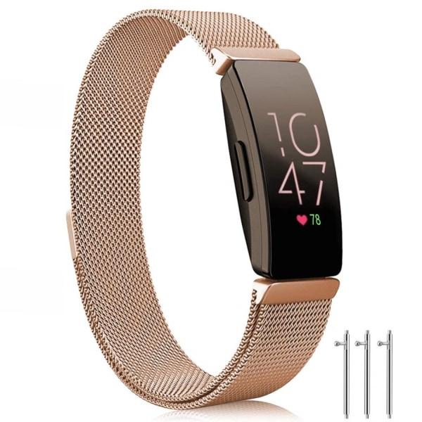 Fitbit Inspire / Inspire HR armband Milanesisk Loop Roségold (L