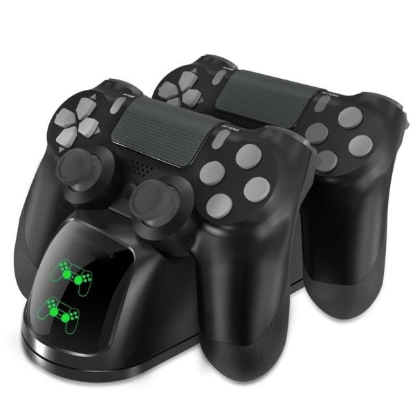 Dubbel laddstation för två PS4/PS4 Slim/PS4 Pro kontroller