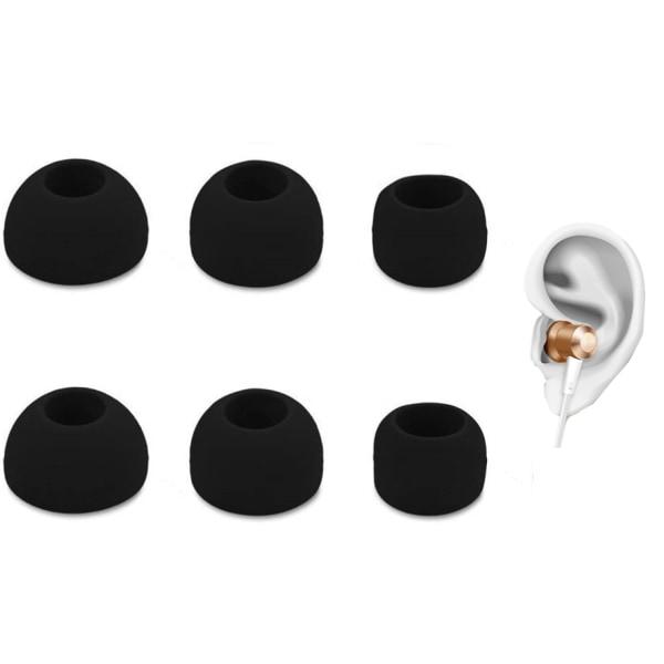 3-pack universella örontoppar till hörlurar - silikon - svart