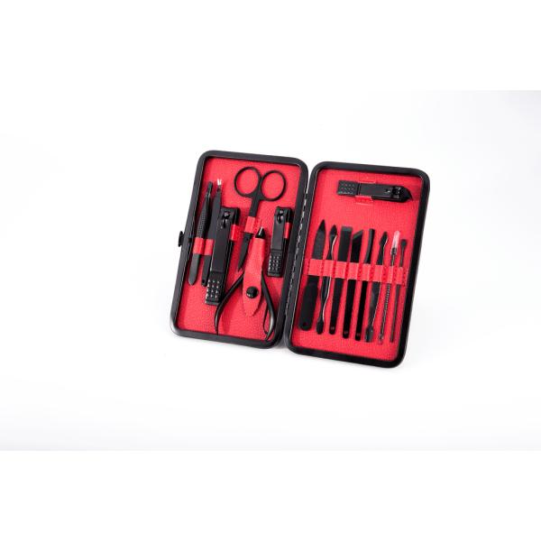 Unisex Manikyr Kit i rostfritt stål 15 delar