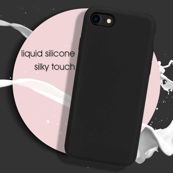 iPhone 7/8/SE skal silikon Svart