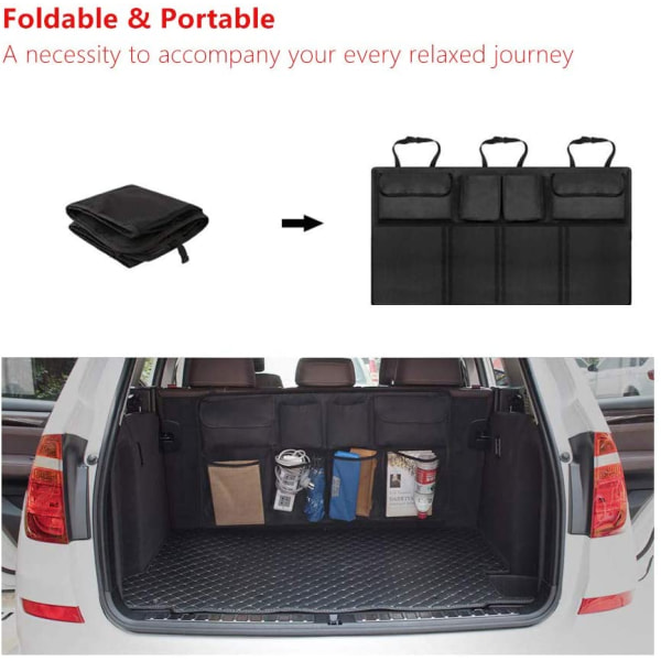 Portabel förvaring för bagageutrymme till bil