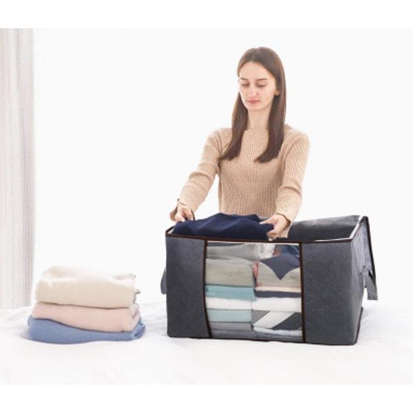 Förvaringsväska för lakan, täcken, sängkläder Grå