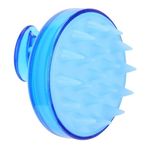 Borste för massage och peeling av hårbotten Blå