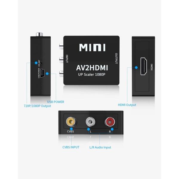 Adapter RCA till HDMI - Svart