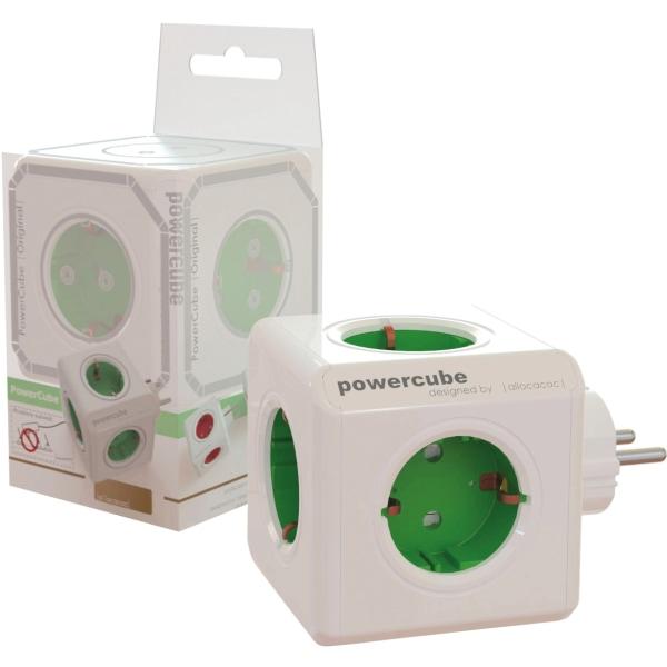 PowerCube Original 5 uttag Grön