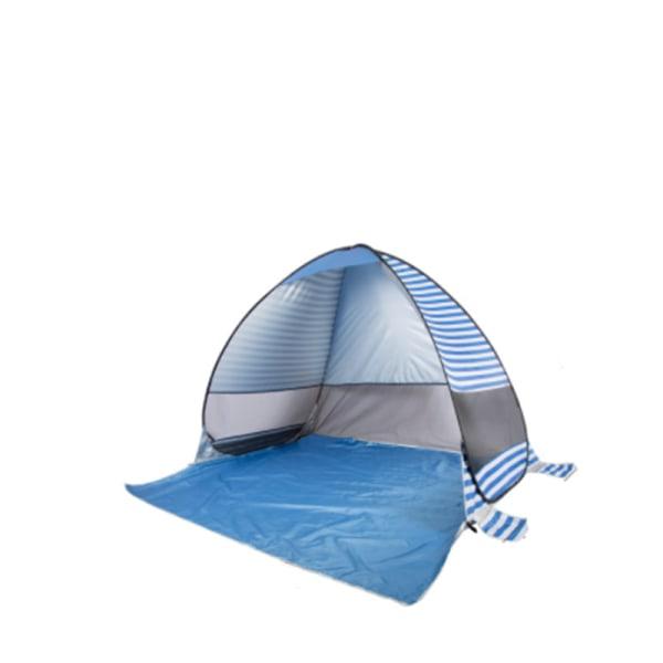 Strandtält pop-up UV 40+ Blå randig