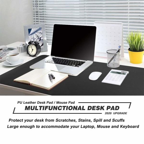 Dubbelsidigt skrivbordsunderlägg PU-läder 90x40 cm