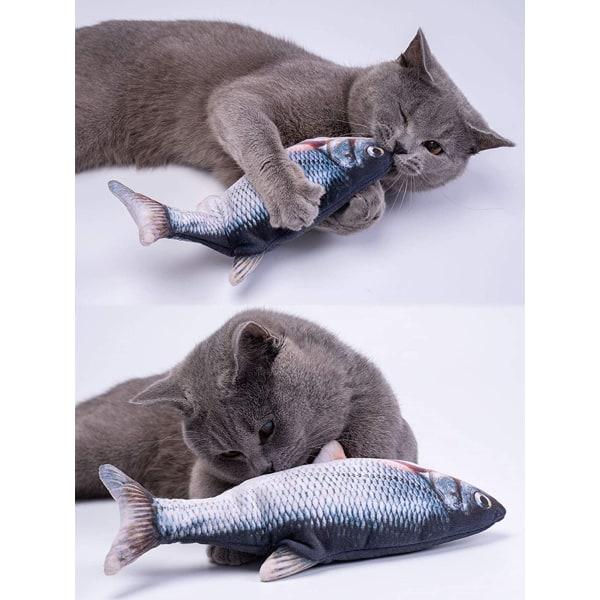 Interaktiv kattleksak Sprattlande Fisk Grå