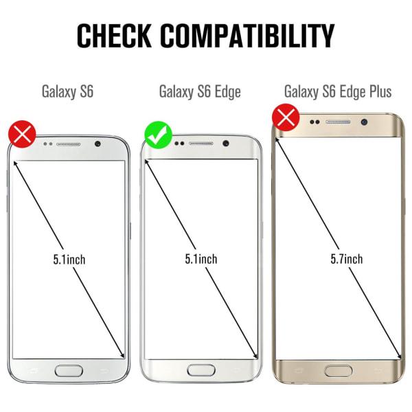 Skärmskydd Samsung Galaxy S6 Edge Härdat glas Svart