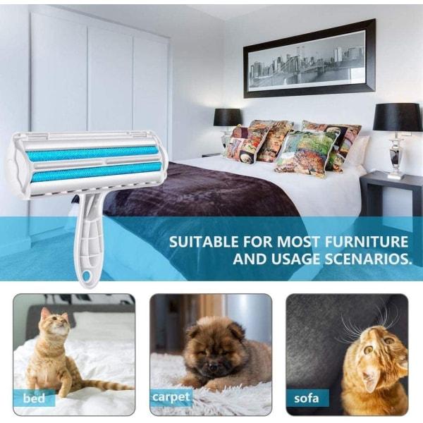 Pälsborttagare / luddrulle för hår från husdjur Blå