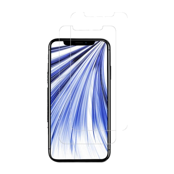 Skärmskydd iPhone XR Härdat glas Transparent 2-pack