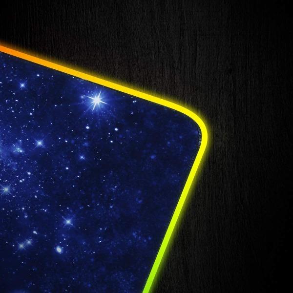 Gaming RGB USB LED Musmatta Stjärnhimmel Svart (L)
