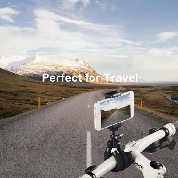 Tripod - böjbart trebensstativ med fjärr för mobil och kamera