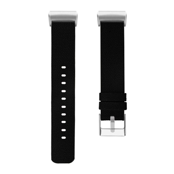 Fitbit Charge 3/4 armband canvas svart (S)