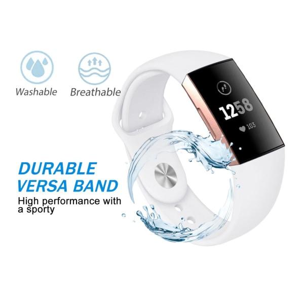 Fitbit Charge 3/4 armband silikon Vit (S)